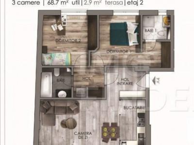 Chirie apartament nou in zona The Office